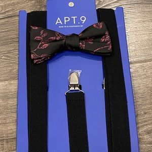 ⭐️ New Apt 9 Bow Tie & Suspender Set